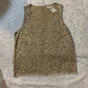 Chicos sequin embroidered top size 3